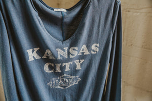 Women's Kansas City Gamma Long Sleeve Hanging Front Zoomed