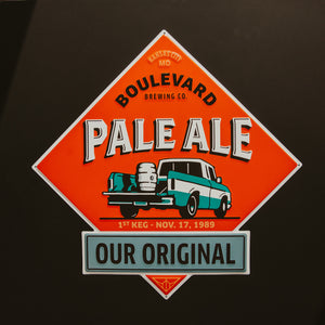 Pale Ale Diamond Tin Tacker with black background