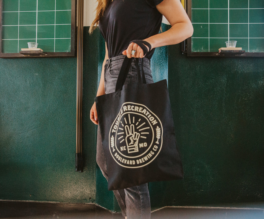 Tours & Rec Canvas Tote model