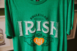 Irish Ale Tee Hanging Front Zoomed