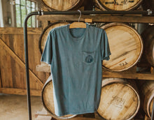 Load image into Gallery viewer, Circle Brewery Hudson Pocket Tee Hanging Back