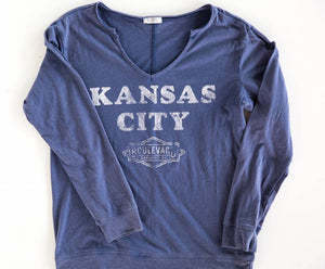 Women's Kansas City Gamma Long Sleeve Art Front