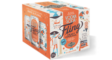 Load image into Gallery viewer, Fling Blood Orange Vodka Soda Four Pack 12 oz cans BOX