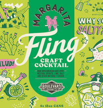 Load image into Gallery viewer, Fling Margarita Four Pack 12 oz cans LOGO