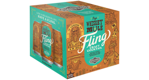 Fling Rye Whiskey Mule Four Pack 12 oz cans BOX