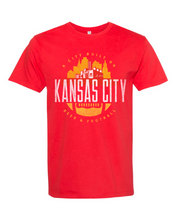 Load image into Gallery viewer, Kansas City Football Tee Art Front