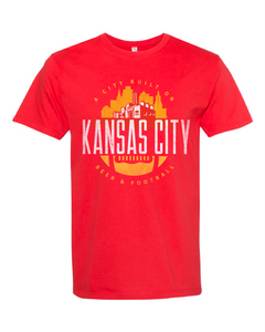 Kansas City Football Tee Art Front