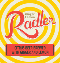 Load image into Gallery viewer, Ginger Lemon Radler Six Pack 12 oz cans LOGO