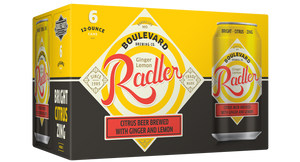 Ginger Lemon Radler Six Pack 12 oz cans BOX