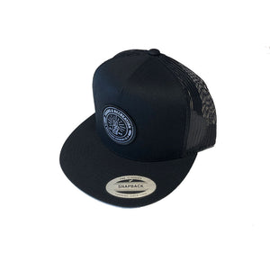 Tours & Rec Black Snapback Hat art side