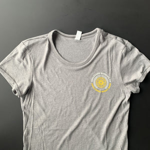 Women's Wheat Circle Tee Front laying