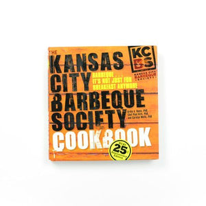 Kansas City Barbeque Society Cookbook cover with white background