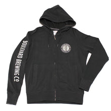 Load image into Gallery viewer, Smokestack Logo Charcoal Zip Hoodie Laying