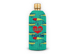 "Freaker Knit Koolie ""I Lure Fish In"" bottle"