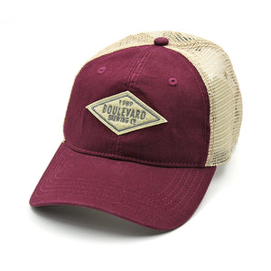 Diamond Felt Patch Hat maroon front