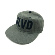 Load image into Gallery viewer, BLVD Gray Wool Cap front with white background