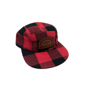 Arch Logo Plaid 5 Panel Cap Art Front