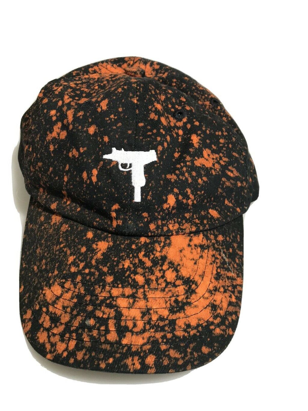 Acid Wash UZI EMBROIDERED POLO BASEBALL CAP Dad Hat Custom Made One Of A Kind