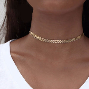 Leaves Choker Chain