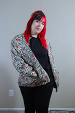 Silk Floral Animal Print Jacket