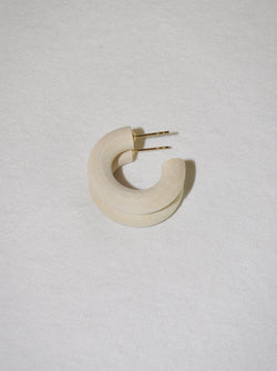 Chanel Ivory Mini Hoop