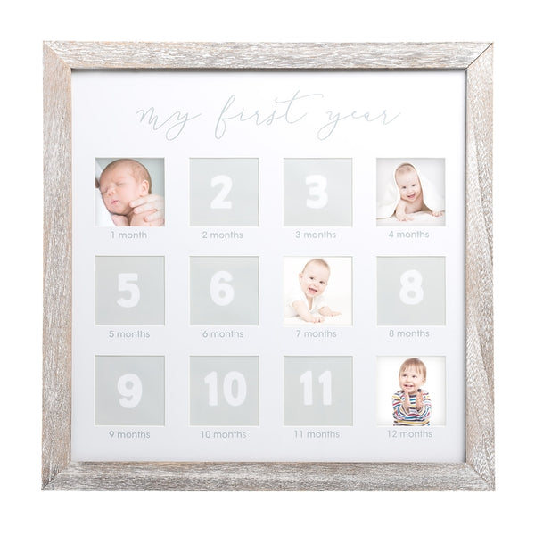 Rustic First Year Square Photo Frame