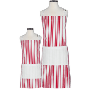 Classic Striped Parent & Child Apron Boxed Set