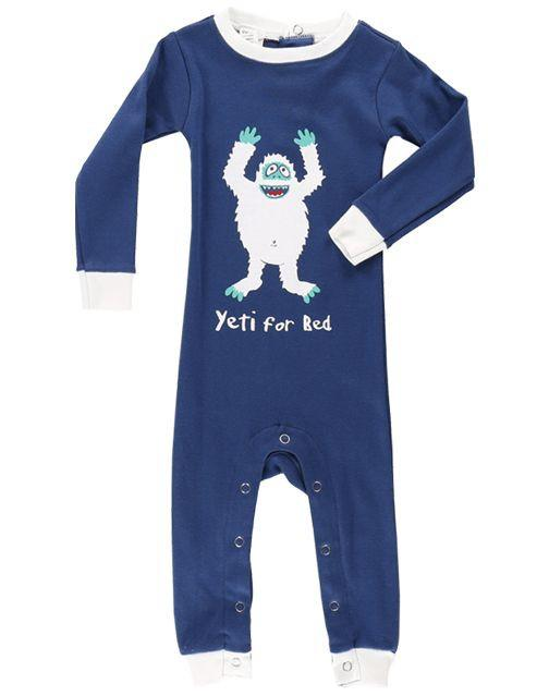 Yeti for Bed Unionsuit - 12 Months