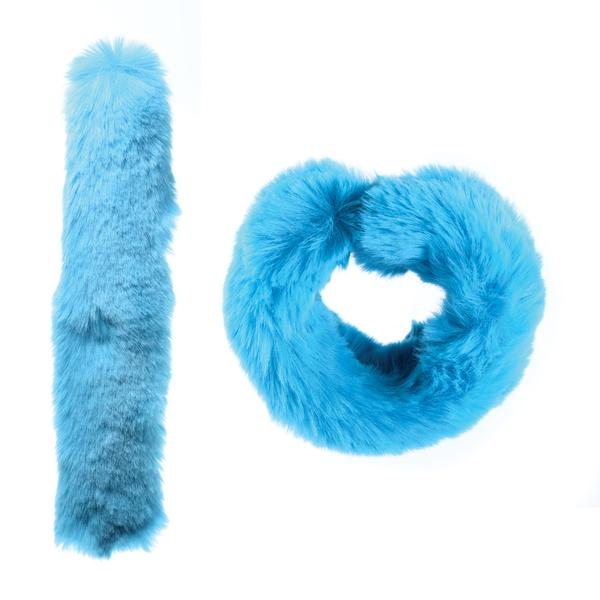 Blue Raspberry - Fuzzy Slap Bracelet