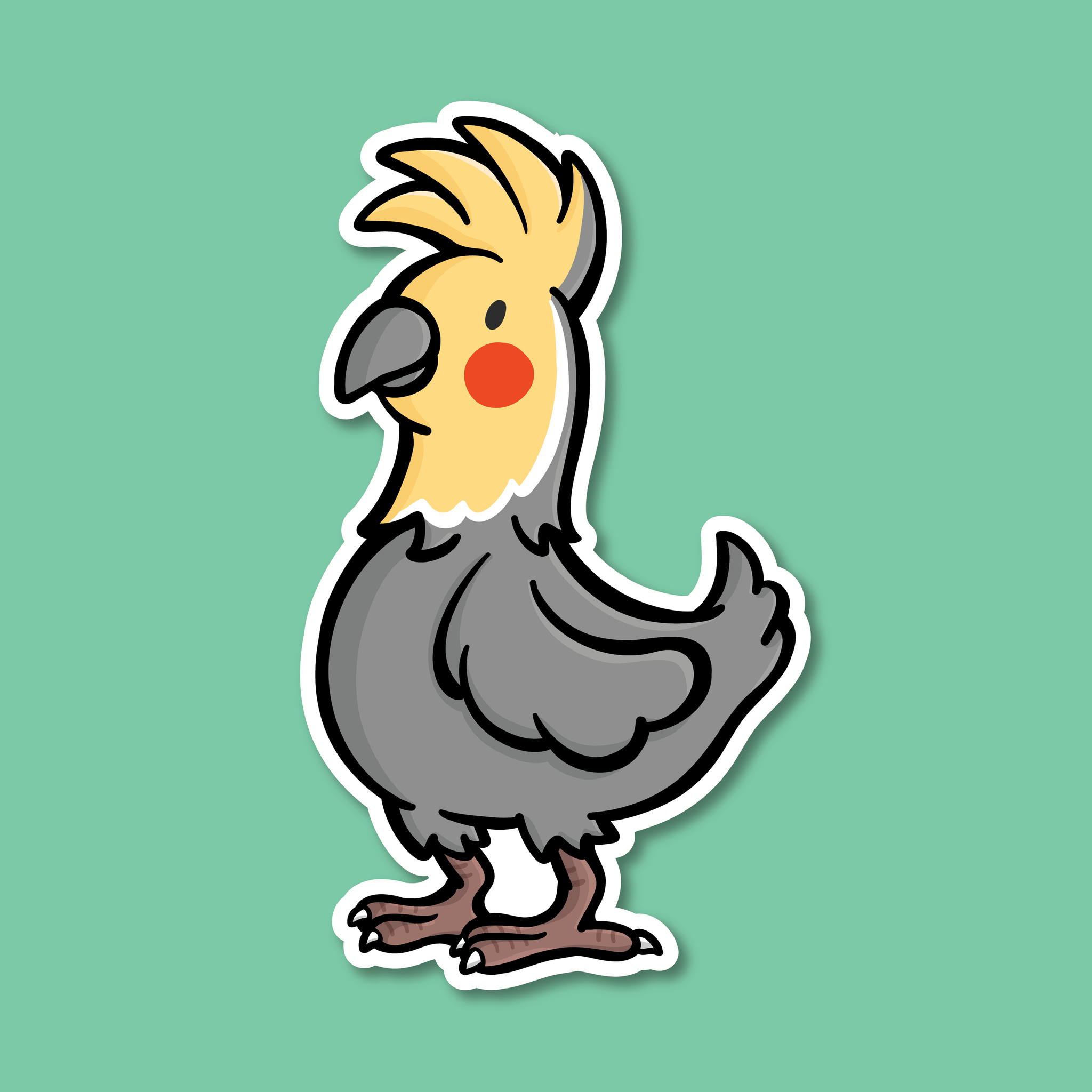 Cockatiel Vinyl Sticker