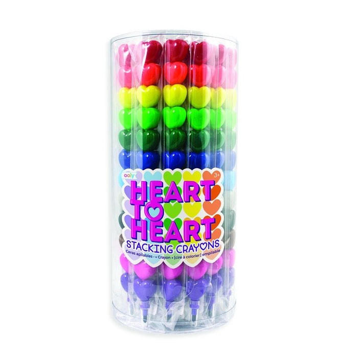 Heart to Heart Stacking Crayons - Tub of 24