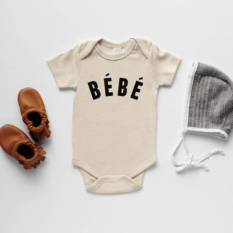 Cream Bébé French-Inspired Organic Baby Bodysuit Long Sleeve