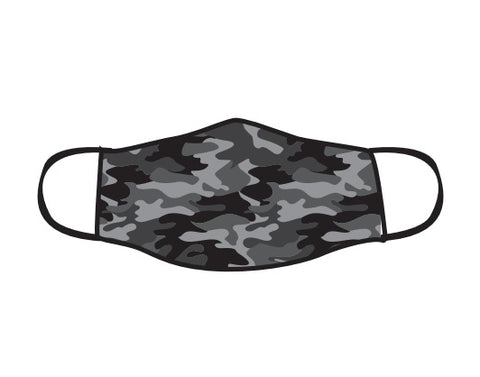 BLACK CAMO FACE MASK - CHILDREN'S SIZE