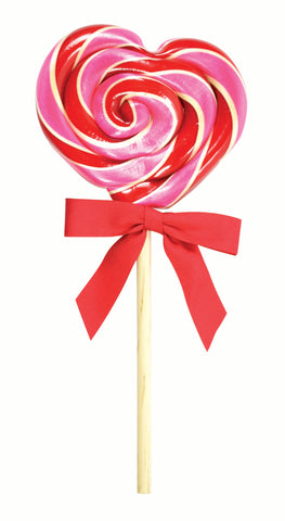 Organic Heart Cherry Lollipop 2oz