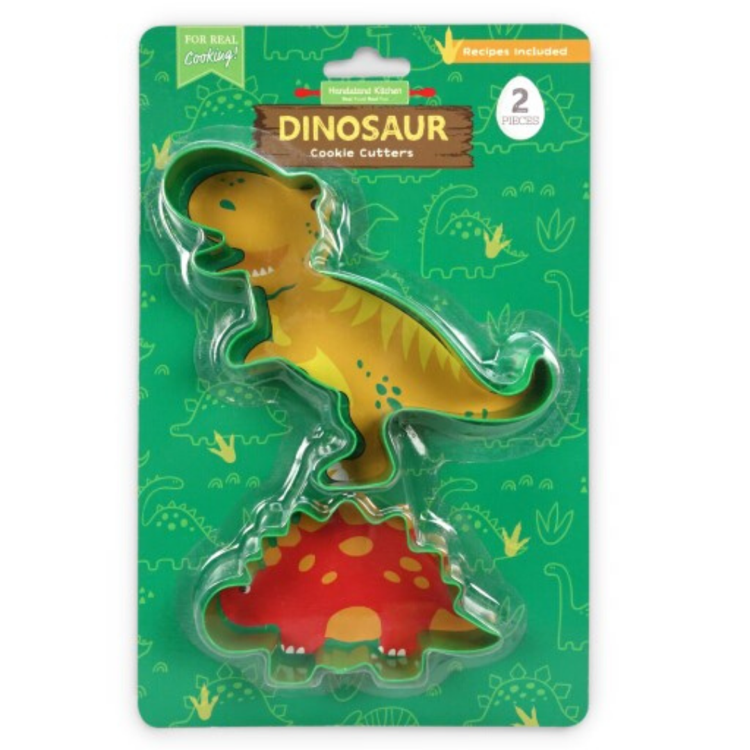 Set of 2 Dinosaur Time Cookie Cutter Set