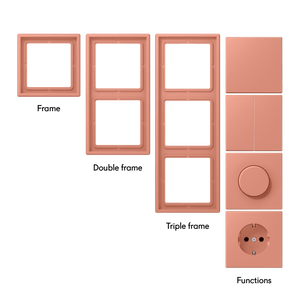 Switches & Sockets Peach