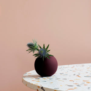Ball Vase 10cm Deep Peach
