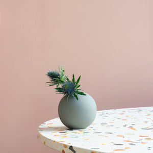 Ball Vase 10cm Grey