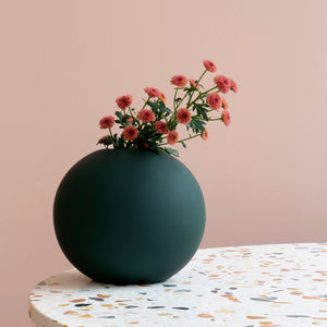 Ball Vase 20cm Deep green