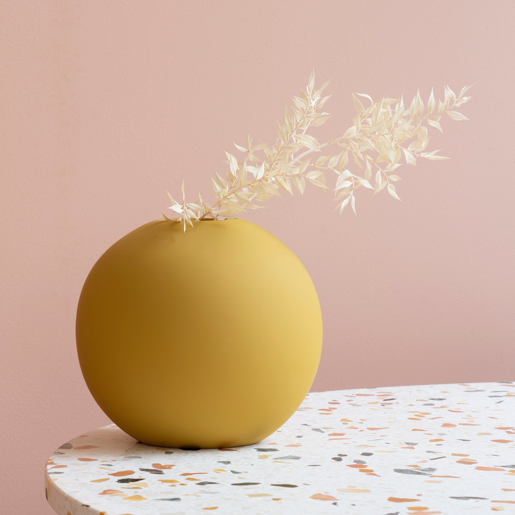 Ball Vase 20cm Yellow
