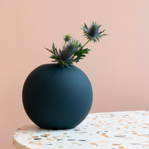 Ball Vase 20cm Deep Blue