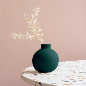 Collar Vase 12cm Deep Green