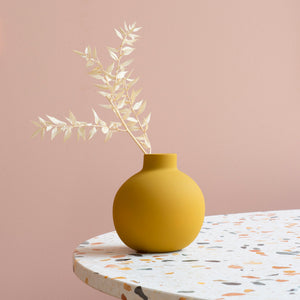 Collar Vase 12cm Yellow