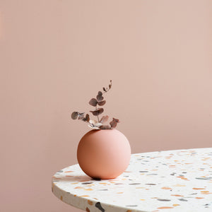 Ball Vase 10cm Pale Peach