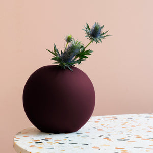Ball Vase 20cm Deep Peach