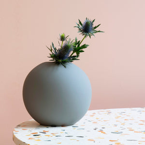 Ball Vase 20cm Grey