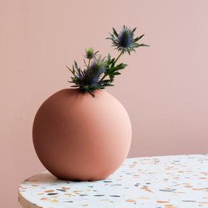 Ball Vase 20cm Pale Peach