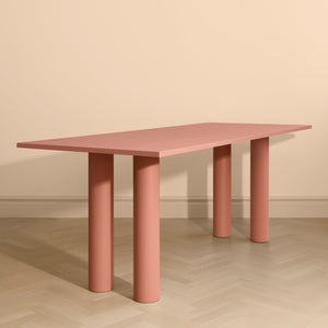 Elephant Table Peach Ash Veneer