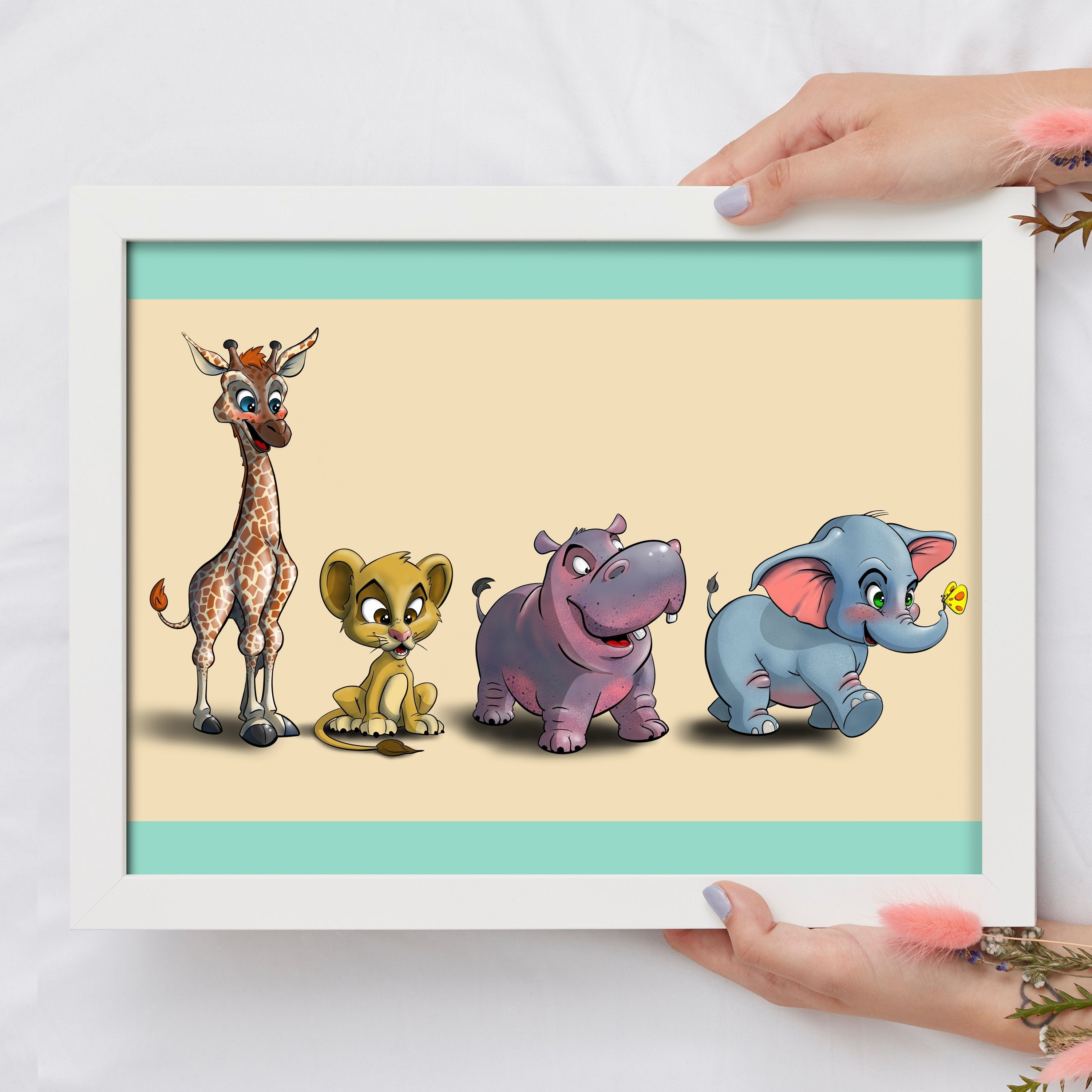Animal Safari Collection- (Framed) - Tiny Dream Factory