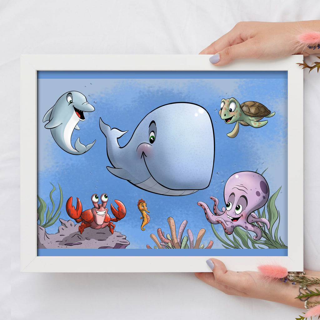 Aquatic Collection (Framed) - Tiny Dream Factory